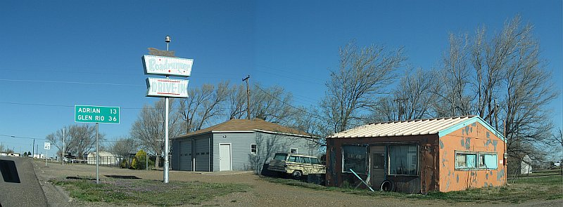 USA - Vega TX - Abandoned Roadrunner Drive-In Panoramic (21 Apr 2009)
